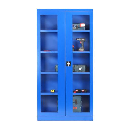 Armoire Haute IDEO100B Porte-Vitrées
