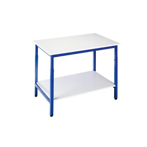 Table d'Atelier ESIA 120 Réglable en Hauteur avec Tablette Inférieure